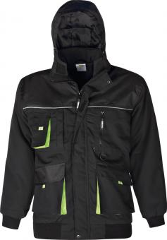 Winterjacke schwarz/grün L