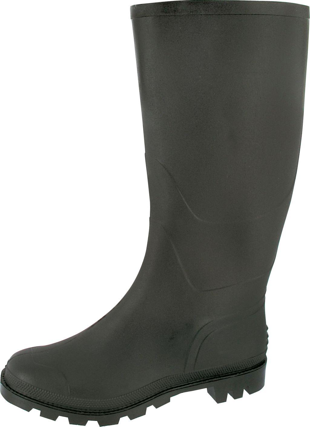 Triuso PVC Stiefel Paul schwarz 45   Schuhe   Bekleidung